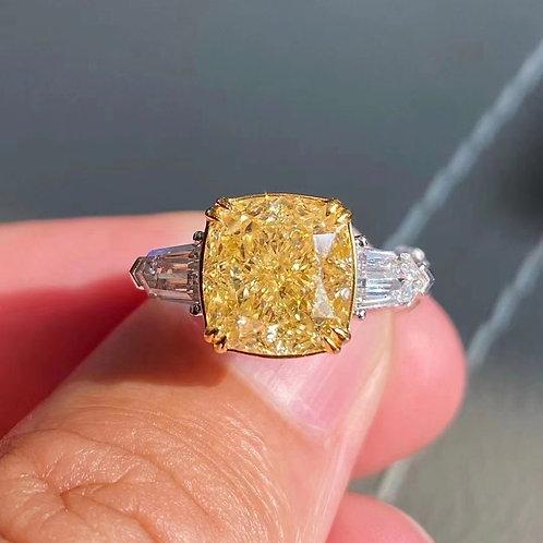 (Ask Price) Yellow Diamond Ring 5.0ct
