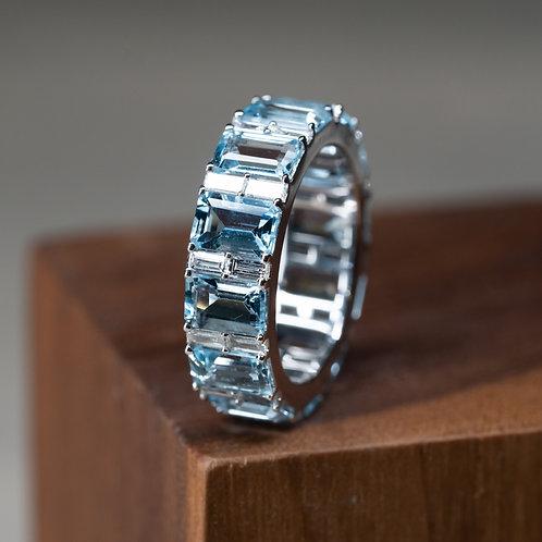 Aquamarine Eternity Ring 6.54g