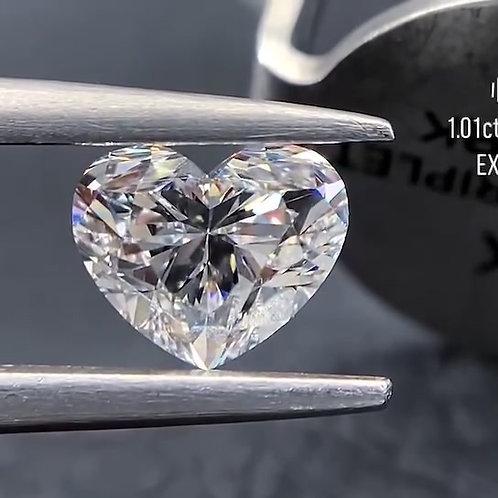 Heart Cut Diamond 1.01ct
