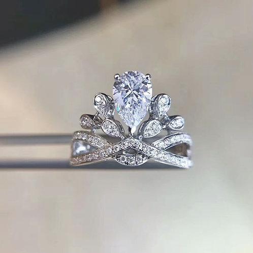 Pear Cut Diamond Ring 1ct