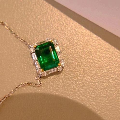 Muzo Green Emerald Pendent 1.25ct