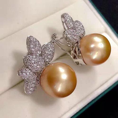 South Sea Pearl Earrings 15.0mm