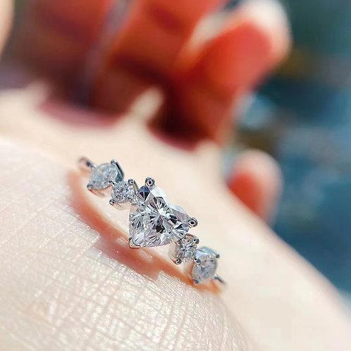 GIA Heart Cut Diamond 0.50ct
