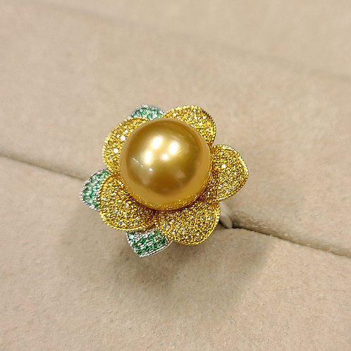 Gold Pearl Ring 13.2mm
