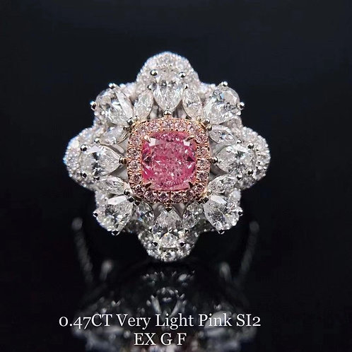 Light Pink Diamond Ring 0.47