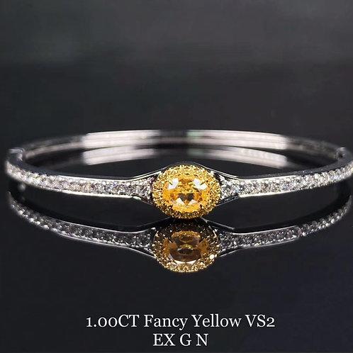 Fancy Yellow Diamond Bracelet 1.00ct