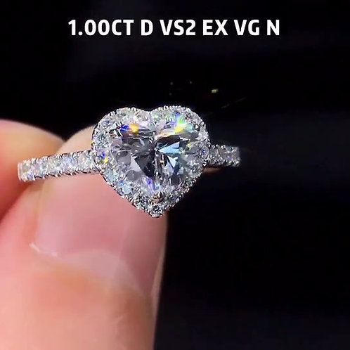 (Ask Price) Heart Shaped Diamond Ring 1.00ct