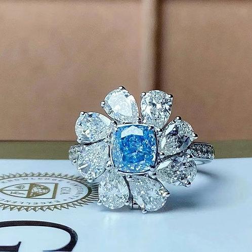 (Ask Price) Blue Diamond Ring 1.0ct