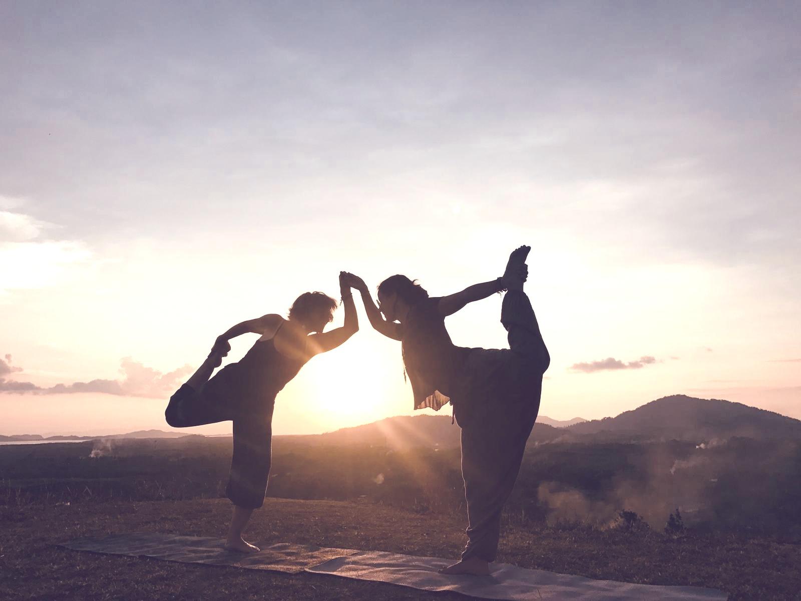 sunset yoga mountain temple trip april 2