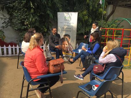 Helping the kids at Lotus Petal
