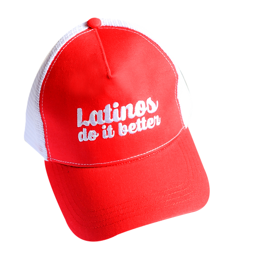Latinos Do It Better White on Red