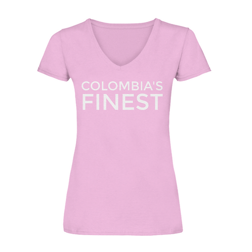 Colombia's Finest Women's V-Neck Pink