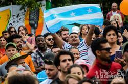 crowd flag MC