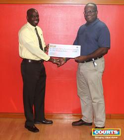 Richard Blades - CFFB (Cystic Frobrisi Foundation Barbados and Rodney Bradshaw)