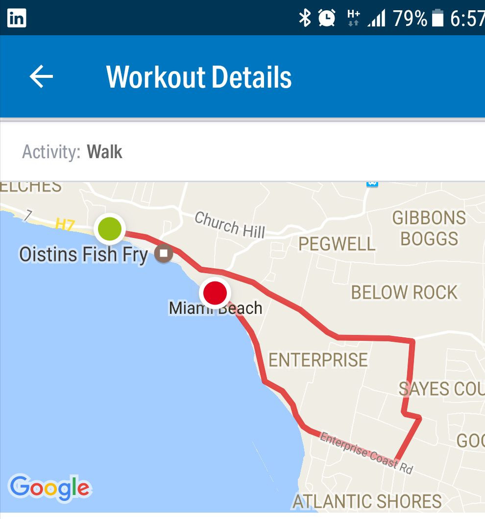 The 2017 Cffb Walk Run Route