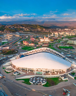 Аэросъемка Сочи. Олимпийский парк.