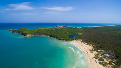 Аэросъемка , Атлатнический океан, Пляж Макао , Доминиканская республика, 2017 октябрь