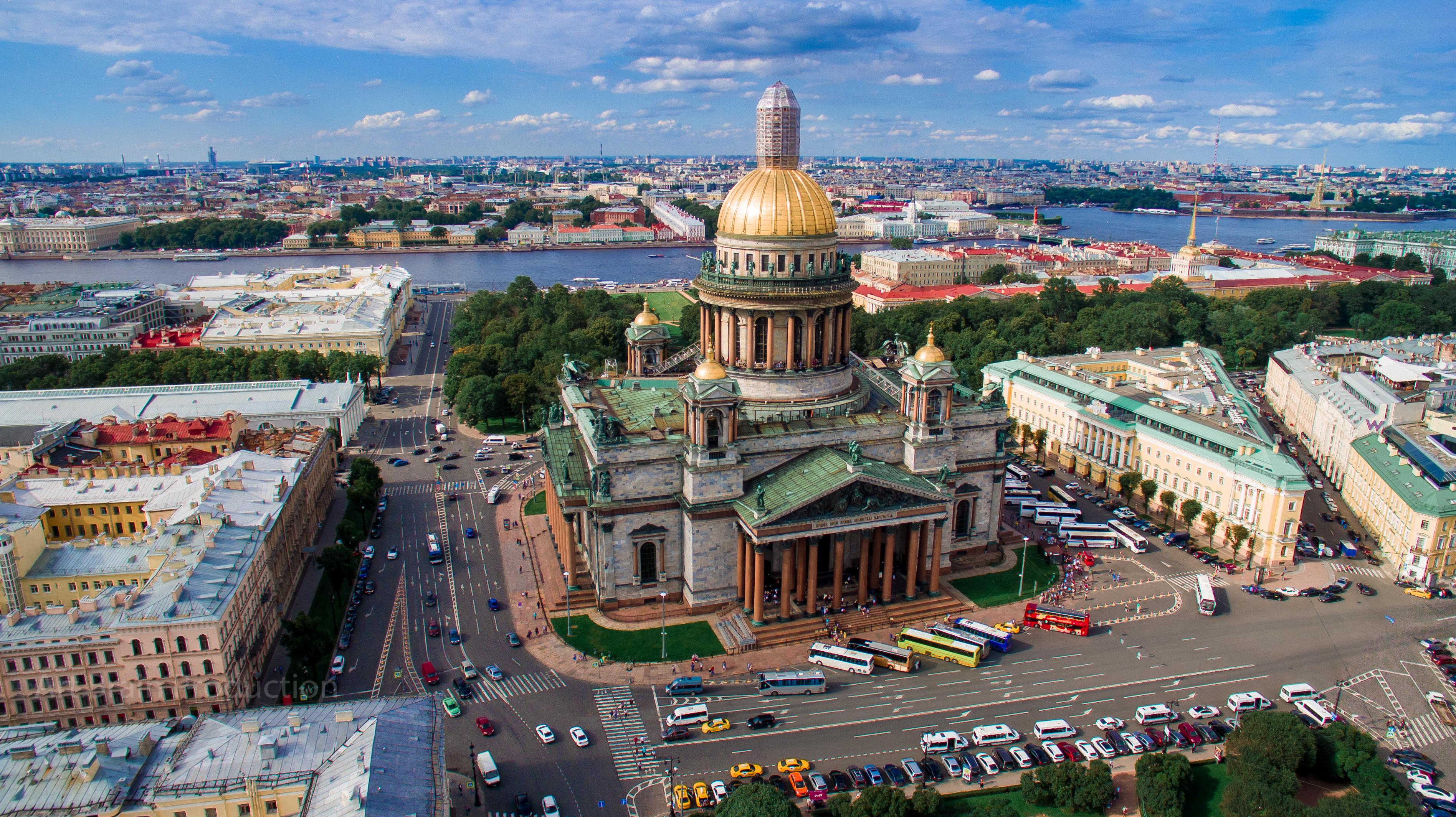 Профессиональная аэросъемка в СПб