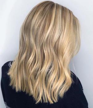Blonde Hair Hightlights