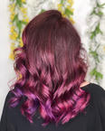 Pink and Purple Hair Coloring