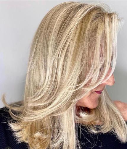 Precision Hair Cut and Highlights For Medium Length