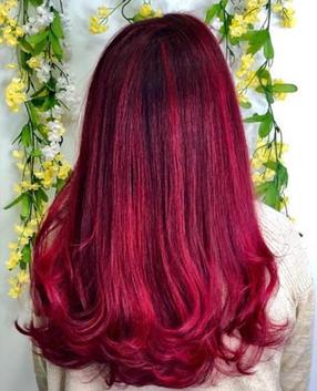Fun Maroon Hair Color