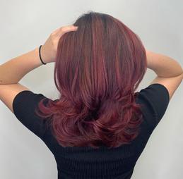 Dark Maroon Hair Coloring