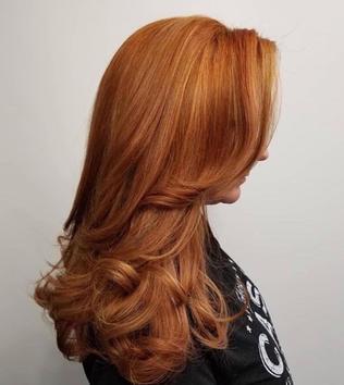 Long Hair Cut With INOA hair color
