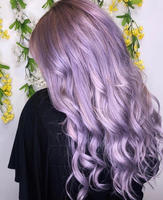 Fun Purple All Over Hair Color