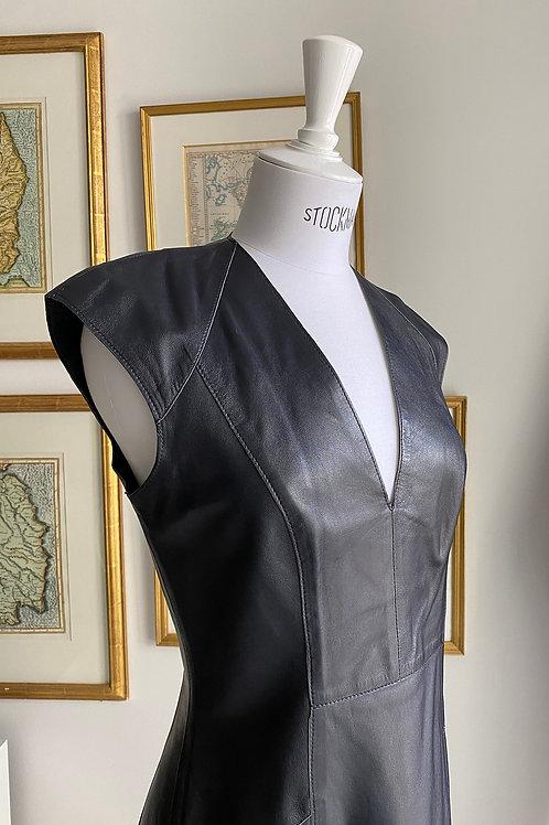 Stills Navy Blue Leather Dress