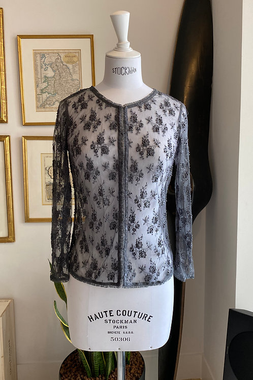 Whistles Beaded Lace Top
