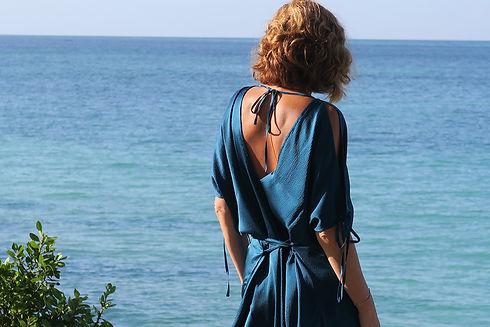 cruzandpepita salinas silk summer dress.