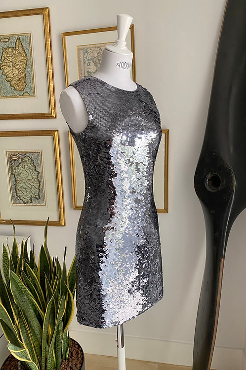 Joseph Silver Sequinned Dress