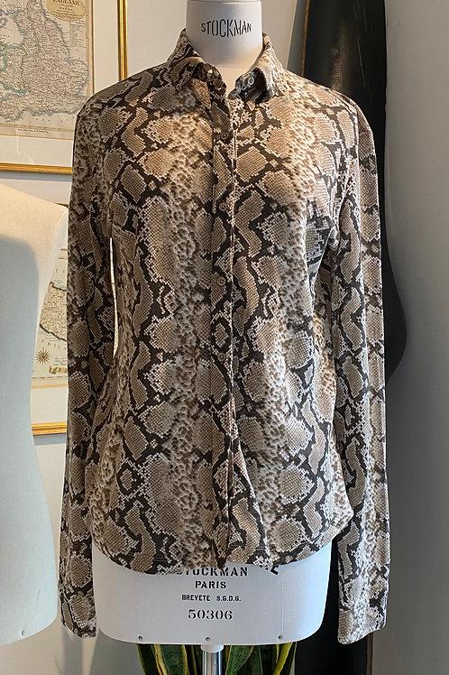 Kujten Python Print Linen Shirt