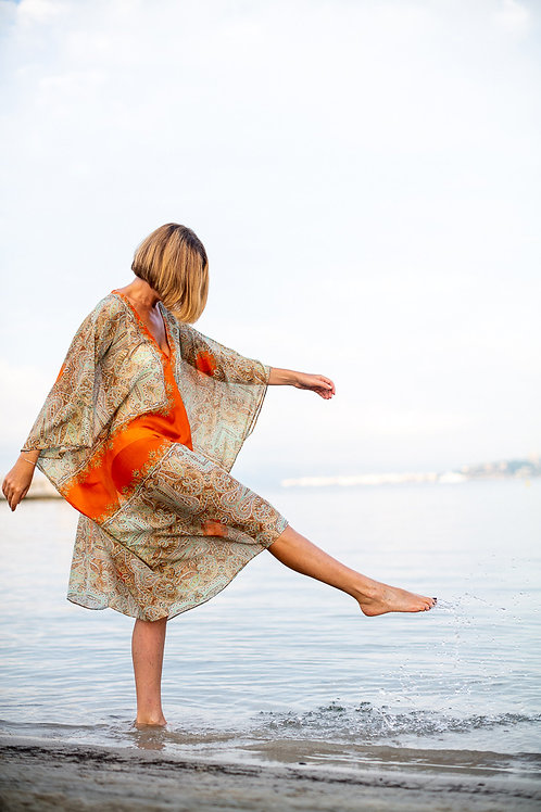 St. Tropez \\ Tangerine Carreau