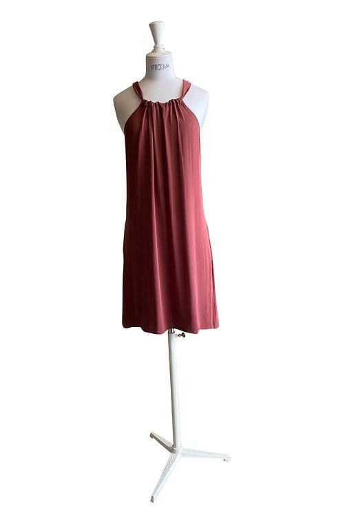 Maya Maya \\ Dark & Dusty Rose Silk Jersey
