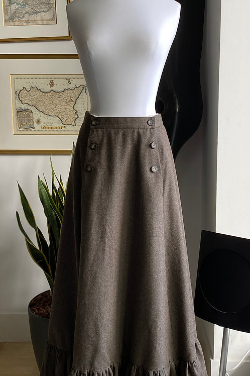 Laura Ashley Wool Skirt & Cotton Peticoatt