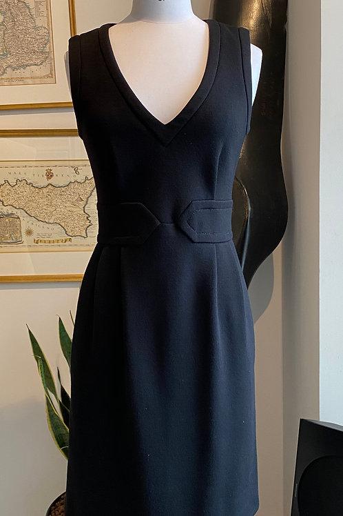 Joseph Nipped Waist Black Dress