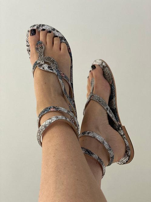 Ann Tuil Colibiri Snake Wrap Sandal