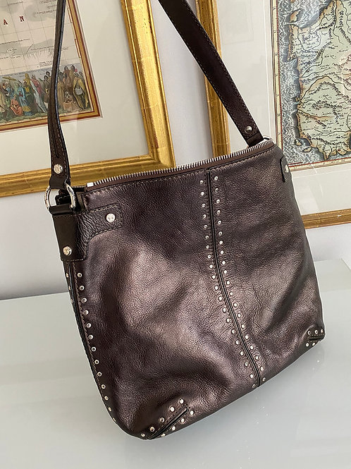 Michael Michael Kors Bronze Leather Shoulder Bag