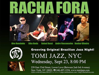 Racha Fora at Tomi Jazz in NYC