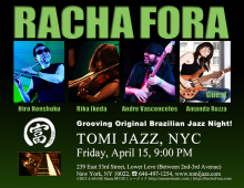 Racha Fora at Tomi Jazz NYC