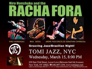 Racha Fora at Tomi Jazz NYC