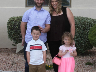 Midbar Kodesh Temple members Cory and Danielle Weinstein and their 2 young children arrived in Las V