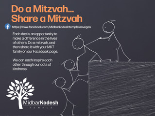 Mitzvahs come in all sizes and shapes and you never know when you will have an opportunity to ""
