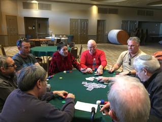 Winner, winner, (Kosher) chicken dinner: Men's Club Poker Tournament