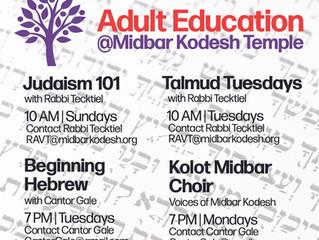 Adult education takes many forms at Midbar Kodesh Temple