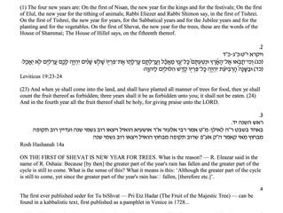 source sheets for Tu B'Shvat