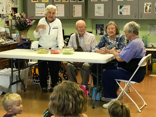 Grand Pals visit Midbar Kodesh Early Childhood Center
