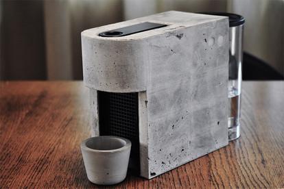 concrete coffee machine